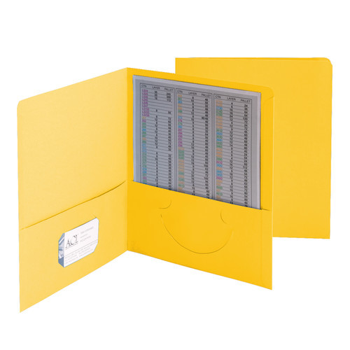 Smead Two-Pocket Heavyweight Folder, Up to 100 Sheets, Letter Size, Yellow, 25 per Box (87862)
