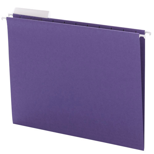 Smead Hanging File Folder with Tab, 1/3-Cut Adjustable Tab, Letter Size, Purple, 25 per Box ( 64023)