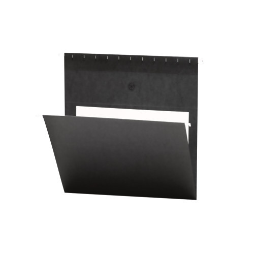 Smead Hanging File Folders with Interior Pocket, Letter Size, Black, 25 per Box (64427)