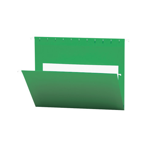 Smead Hanging File Folders with Interior Pocket, Letter Size, Dark Green , 25 per Box (64428)