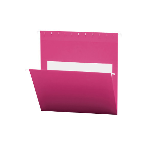 Smead Hanging File Folders with Interior Pocket, Letter Size, Pink , 25 per Box (64429)
