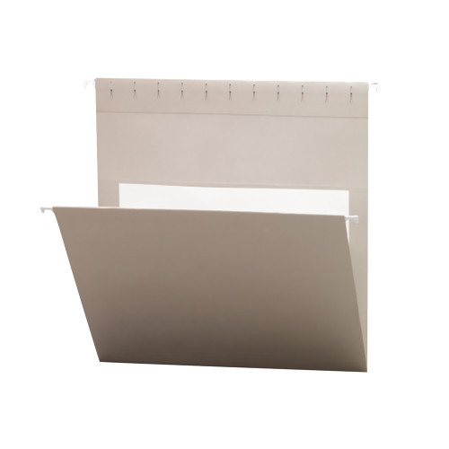 Smead Hanging File Folders with Interior Pocket, Letter Size, Gray , 25 per Box (64431)