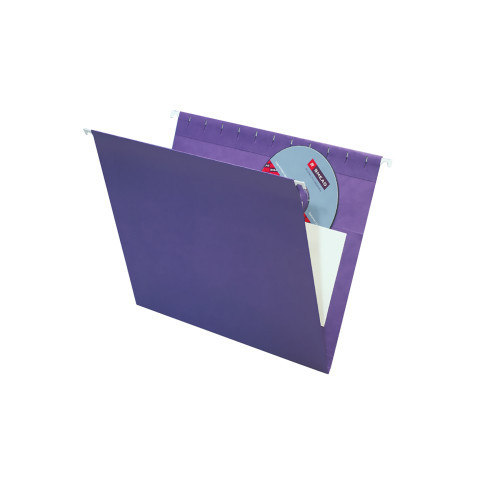 Smead Hanging File Folders with Interior Pocket, Letter Size, Purple, 25 per Box (64436)