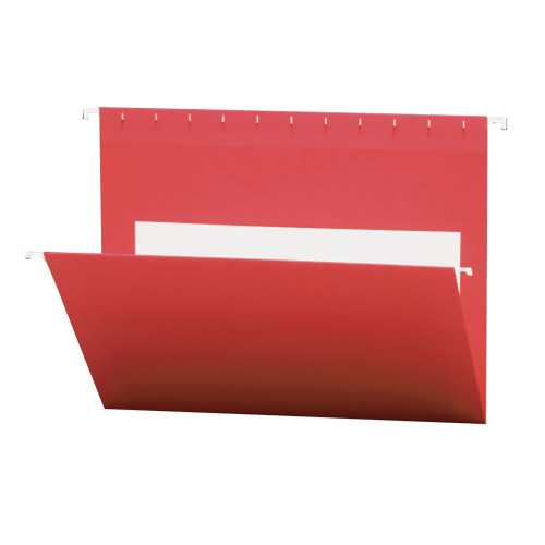 Smead Hanging File Folders with Interior Pocket, Letter Size, Red, 25 per Box (64438)