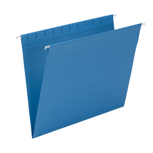 Smead 64439  Hanging File Folders with Interior Pocket, Letter Size, Sky Blue, 25 per Box (64439)