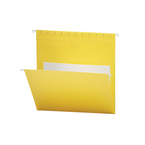 Smead Hanging File Folders with Interior Pocket, Letter Size, Yellow, 25 per Box (64441)