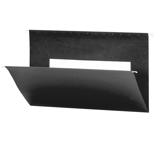 Smead Hanging File Folders with Interior Pocket, Legal Size, Black, 25 per Box (64477)