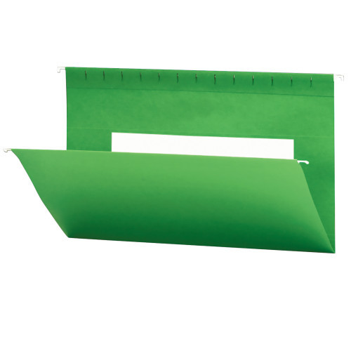 Smead Hanging File Folders with Interior Pocket, Legal Size, Dark Green, 25 per Box (64478)