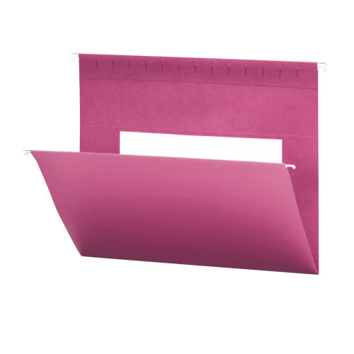 Smead Hanging File Folders with Interior Pocket, Legal Size, Dark Pink, 25 per Box (64479)