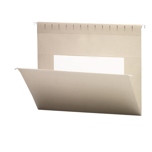 Smead Hanging File Folders with Interior Pocket, Legal Size, Gray, 25 per Box (64481)