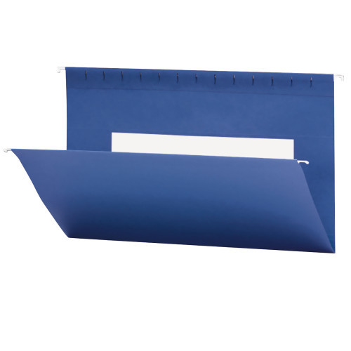 Smead Hanging File Folders with Interior Pocket, Legal Size, Navy, 25 per Box (64484)