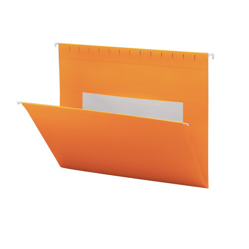 Smead Hanging File Folders with Interior Pocket, Legal Size, Orange, 25 per Box (64485)