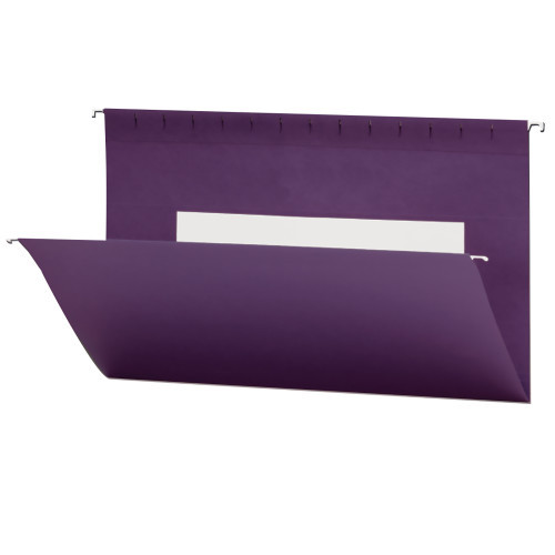 Smead Hanging File Folders with Interior Pocket, Legal Size, Purple, 25 per Box (64486)