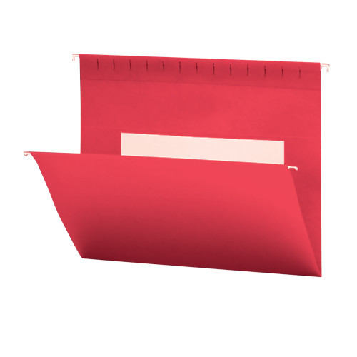 Smead Hanging File Folders with Interior Pocket, Legal Size, Red, 25 per Box (64488)