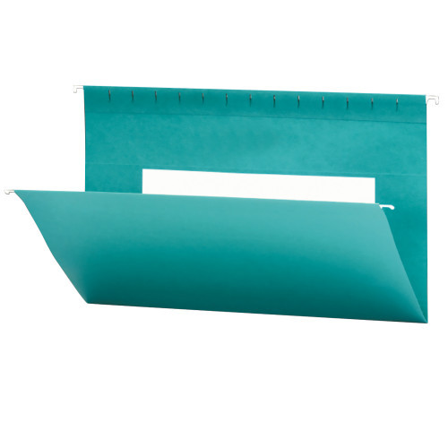 Smead Hanging File Folders with Interior Pocket, Legal Size, Teal, 25 per Box (64490)