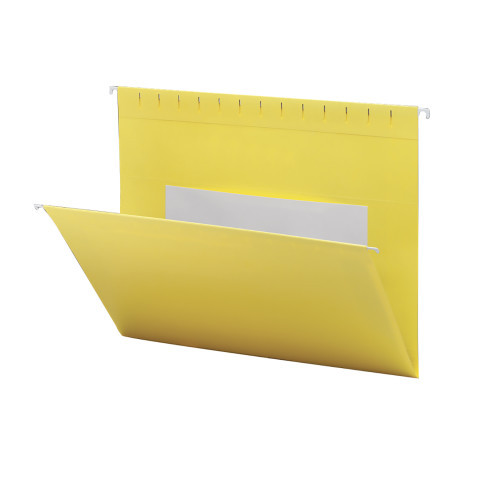 Smead Hanging File Folders with Interior Pocket, Legal Size, Yellow, 25 per Box (64491)