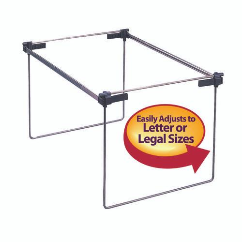 Smead Hanging File Folder Frame, Adjustable Letter/Legal/A4, Gray  (64869)