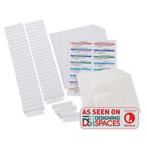 Smead Viewables Premium 3D Hanging Folder Tabs and Labels for Inkjet and Laser Printers, bulk pack of 100 (64910)