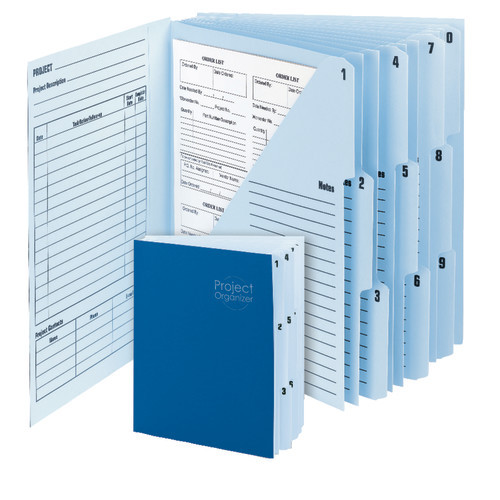Smead Project Organizer, 10 Pocket Dividers, Letter Size, Navy/Lake Blue (89200) - Total of 10