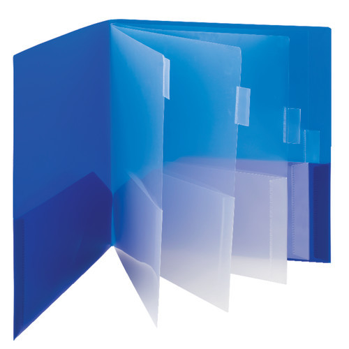 Smead Campus.org Poly Subject File Folder, 10 Pockets, Letter Size, Assorted Colors (89203) - Total of 30