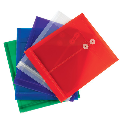 Smead Campus.org Poly Envelope, Letter Size, 5 per Pack, Assorted Colors (89501) - Total of 12