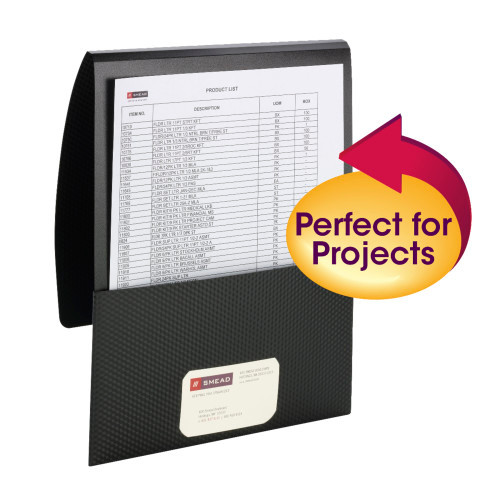 Smead Organized Up Poly Stackit Folders, Letter Size, Black, 5 per Pack (87805) - 10 Packs