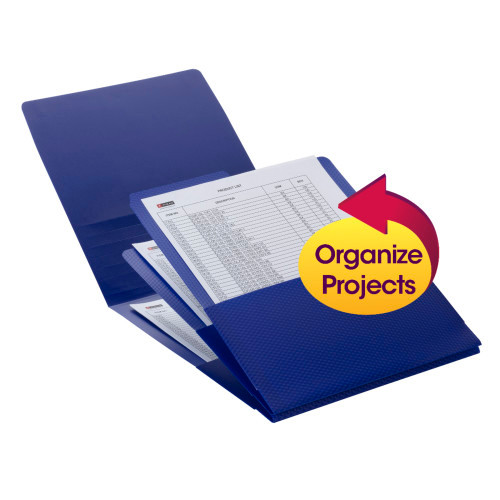 Smead Organized Up Poly Stackit Organizers, Letter Size, Dark Blue, 2 per Pack (87006) - 12 Packs