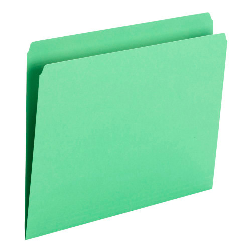 Smead File Folder, Straight Cut, Letter Size, Green, 100 per Box (10939) - 5 Boxes