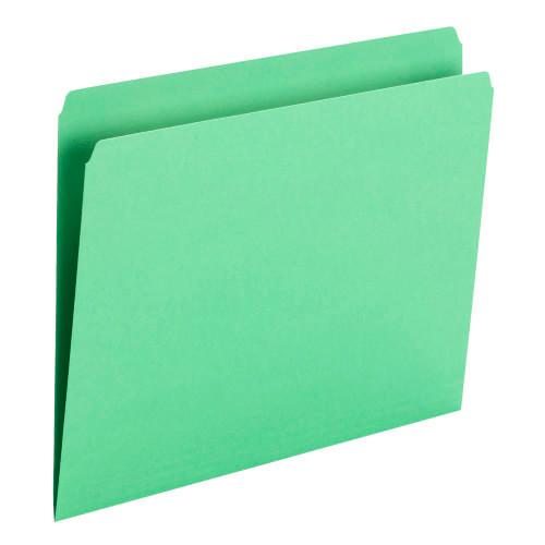 Smead File Folder, Straight Cut, Letter Size, Green, 100 per Box (10939) - 5 Boxes
