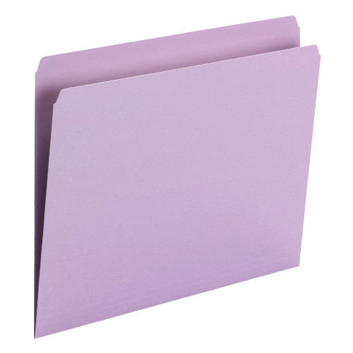 Smead File Folder, Straight Cut, Letter Size, Lavender, 100 per Box (10940) - 5 Boxes