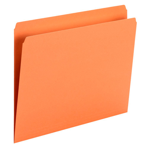 Smead File Folder, Straight Cut, Letter Size, Orange, 100 per Box (10941) - 5 Boxes