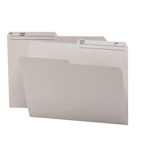 Smead Reversible File Folder, 1/2-Cut Printed Tab, Letter Size, Gray, 100 per Box (10363)