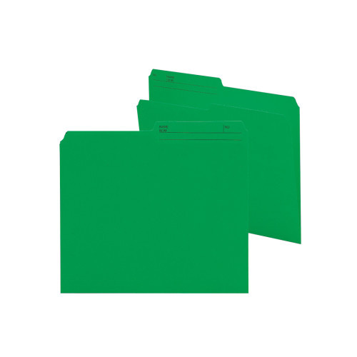 Smead Reversible File Folder, 1/2-Cut Printed Tab, Letter Size, Dark Green, 100 per Box (10367)