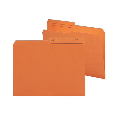Smead Reversible File Folder, 1/2-Cut Printed Tab, Letter Size, Orange, 100 per Box (10370)