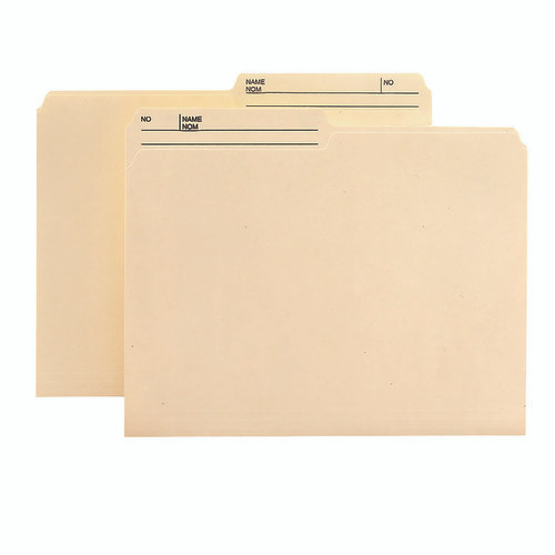 Smead Reversible File Folder with Antimicrobial Product Protection, 1/2-Cut Right Printed Tab, Letter Size, Manila, 100 per Box (10377)