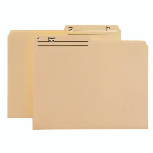 Smead WaterShed/Cut Less File Folder, 1/2-Cut Tab, Letter Size, Manila, 100 per Box (10390)