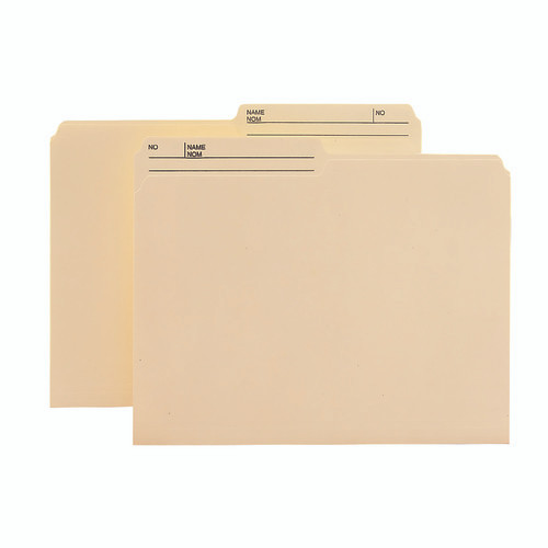 Smead Reversible Heavyweight File Folder, 1/2-Cut Right Printed Tab, Letter Size, Manila, 100 per Box (10445)