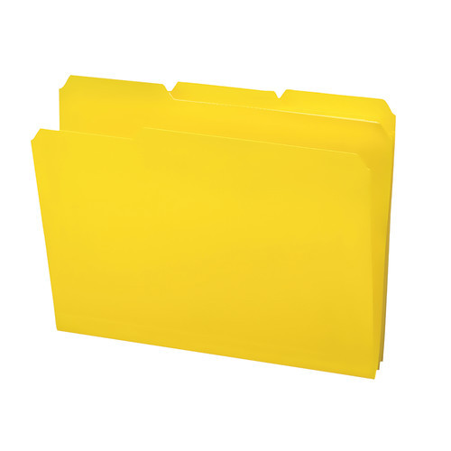 Smead Poly File Folder, 1/3-Cut- Tab Letter Size, Yellow, 24 per Box (10504)