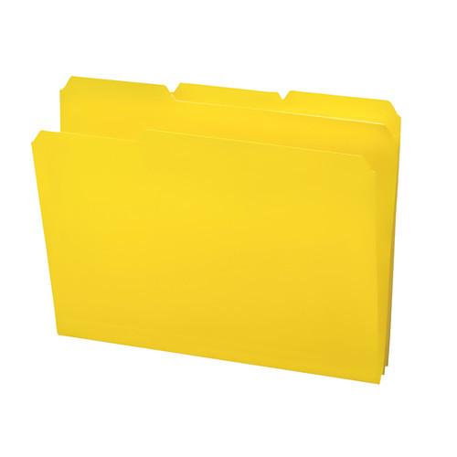 Smead Poly File Folder, 1/3-Cut- Tab Letter Size, Yellow, 24 per Box (10504)