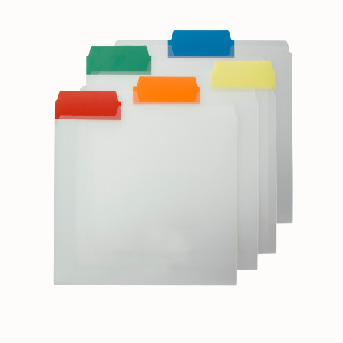 Smead Poly File Folder, Colored 1/3-Cut Tab, Letter Size, Assorted Colors, 25 per Box (10530)