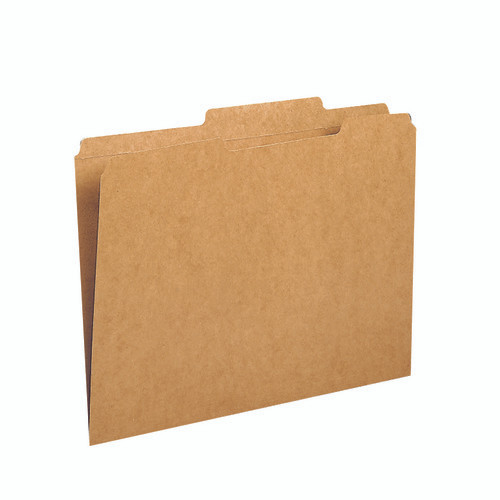 Smead File Folders, Reinforced 2/5-Cut Tab  Right Of Center, Guide Height, Letter Size, Kraft, 100 Per Box (10776)