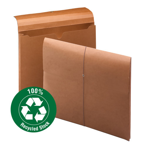 """Smead Wallet, 2"""" Expansion,100% Recycled, Letter Size, Elastic Closure, Redrope, 10 per Box (77170)"""
