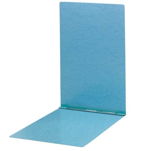 "Smead PressGuard Report Cover, Letter Size, 3"" Capacity, Fastener Top Edge, Blue, 10 per Box (81078)"