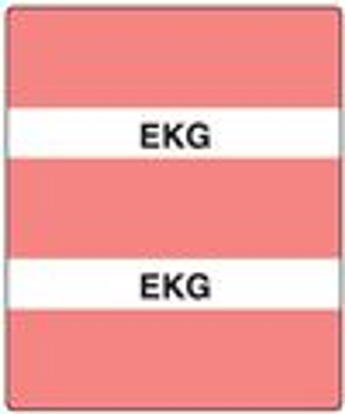 300 Series Create Your Own Patient Chart Divider Tab-Ekg