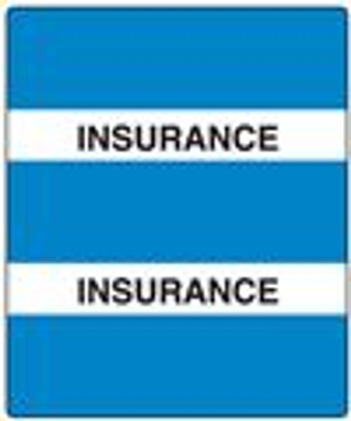 300 Series Create Your Own Patient Chart Divider Tab-Insurance