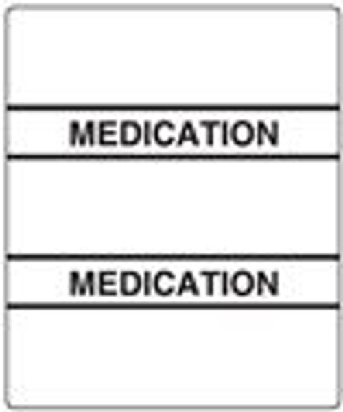 300 Series Create Your Own Patient Chart Divider Tab-White Medication