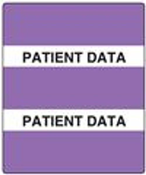 """300 Series Create Your Own Patient Chart Divider Tab - """"Patient Data"""" - Lavender - 1-1/2"""" x 1-1/2"""" - 102/Box"""