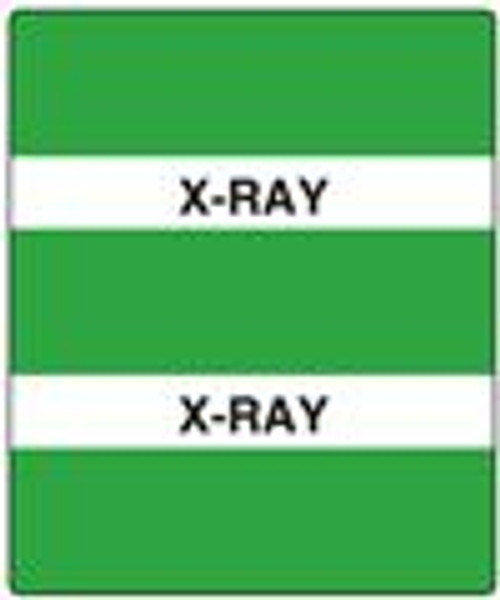 "300 Series Create Your Own Patient Chart Divider Tab- 'X-Ray' - Green - 1-1/2"" x 1-1/2"" - 102/Pack"