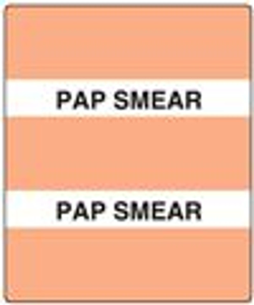 300 Series Create Your Own Patient Chart Divider Tab-Salmon Pap Smear