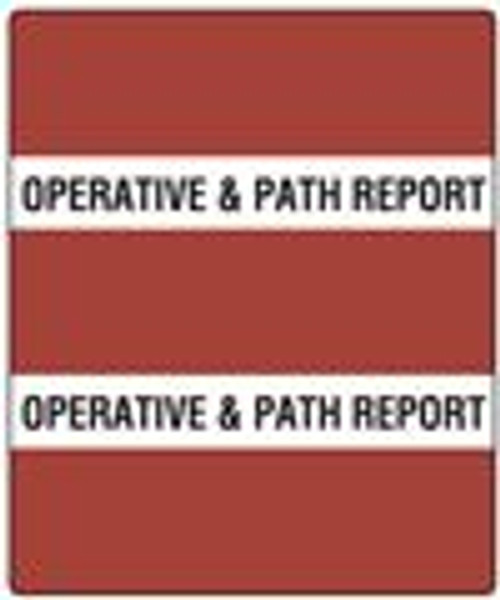 300 Series Create Your Own Patient Chart Divider Tab-Burgundy Operative/Path